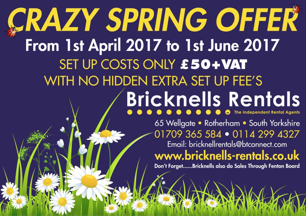 Bricknells Rentals Promo Apr 17