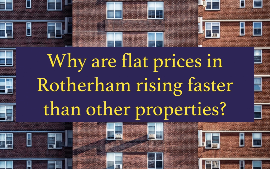 Why are flat prices in Rotherham rising faster than other property types?