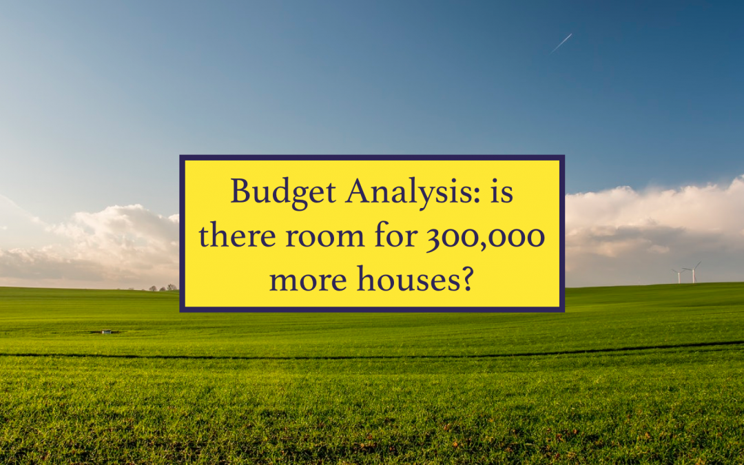 Budget Analysis: is there room for 300,000 houses?