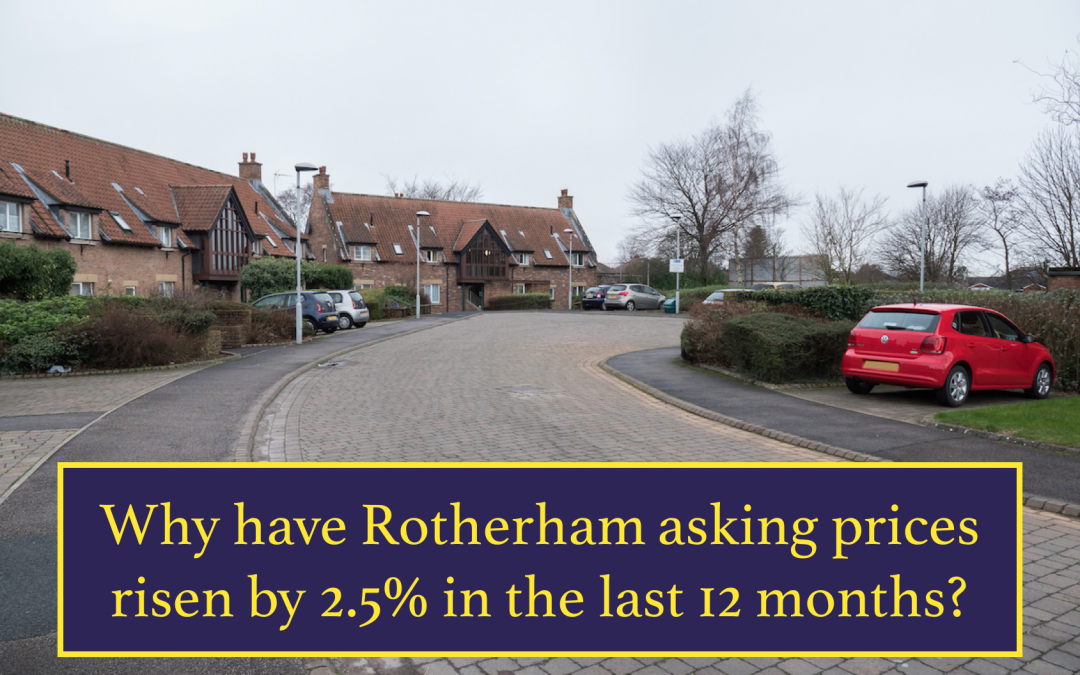 Why have Rotherham asking prices risen by 2.5% in the last 12 months?