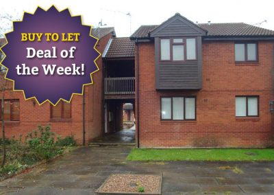 First floor studio apartment for sale on Searby Road, Bramley